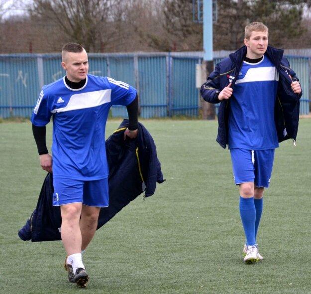 Marcinek (vľavo) s Nociarom (obaja FK LAFC).