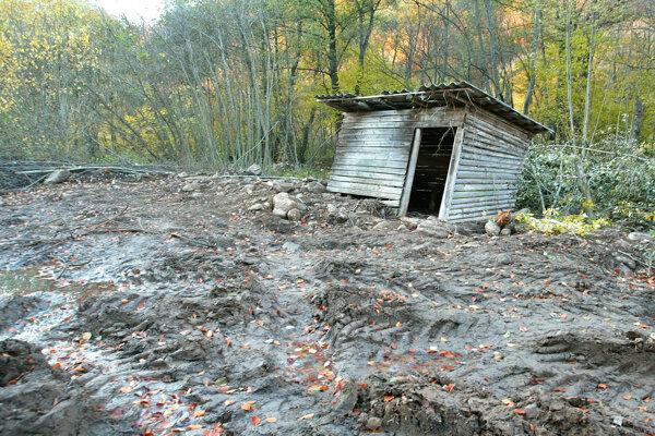 Miesto v Hrochoti, kde v roku 2005 našli telo Imricha Oláha.