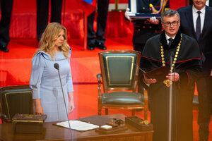 Zuzana Čaputová počas inaugurácie.