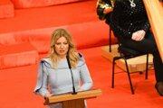 Zuzana Čaputová počas príhovoru.