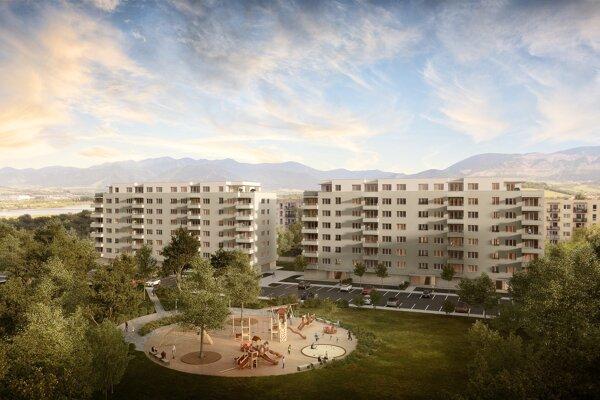Výstavba projektu Zelené Vlčince postupuje podľa plánu.