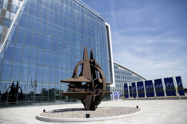 Sídlo NATO v Bruseli.