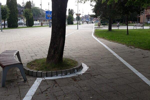 Strom sa cyklochodníku z cesty nevystúpil.
