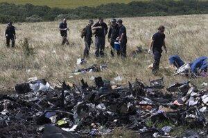 Experti na prehľadávajú trosky zostreleného lietadla.