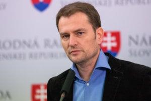 Igor Matovič na tlačovke o daňových podvodoch.