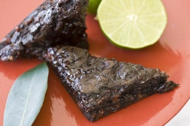 Čerešňovo-limetový brownies