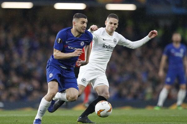 Mateo Kovačič (vľavo) v drese FC Chelsea.
