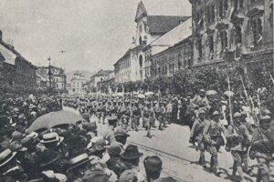 Príchod československých vojsk.