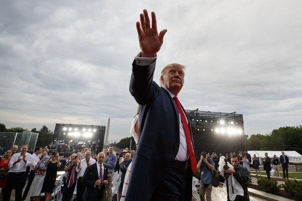 Donald Trump na oslavách Dňa nezávislosti.