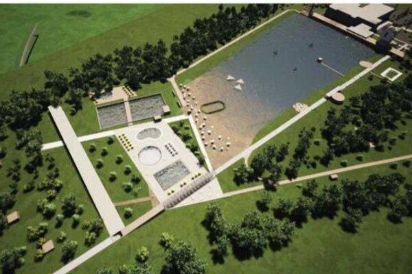Víťazný návrh architektonickej súťaže na riešenie prírodného kúpaliska Delňa