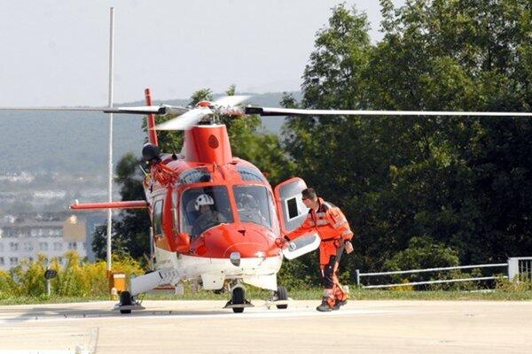 Košickí leteckí záchranári. Vyrážali k dvom prípadom.