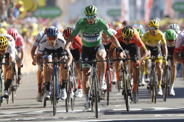 Peter Sagan po triumfe v 5. etape Tour de France 2019.