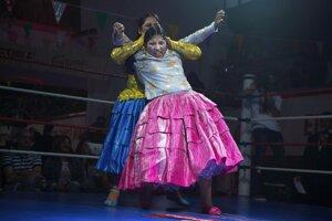 Bolívijské ženy v ringu.