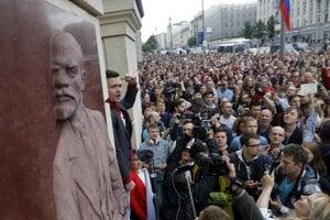 V Moskve sa konali zhromaždenia na podporu nezávislých kandidátov.