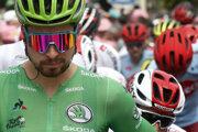 Na snímke slovenský cyklista Peter Sagan (Bora - Hansgrohe) v zelenom drese vedúceho pretekára bodovacej súťaže pred štartom 15. etapy preteku Tour de France z Limoux do Prat d'Albis (185 km) 21. júla 2019.
