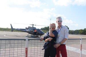 Let helikoptérou v Dubaji.