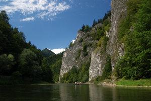 Splavovanie Dunajca na pltiach.
