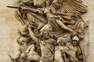 Marseillaisa s dobrovoľníkmi zobrazená na Víťaznom oblúku, autorom je François Rude.