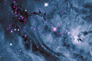 Hmlovina Lagúna tak ako ju vidí ďalekohľad Chandra.