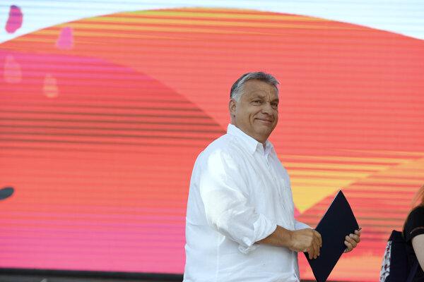 Viktor Orbán v Baile Tušnad, Rumunsko.