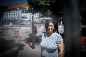 Environmentálna aktivistka Lucia Szabová.