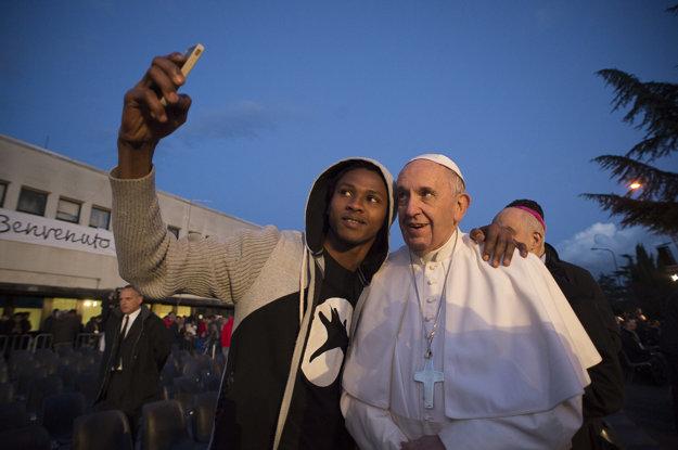 František pózoval na selfie.