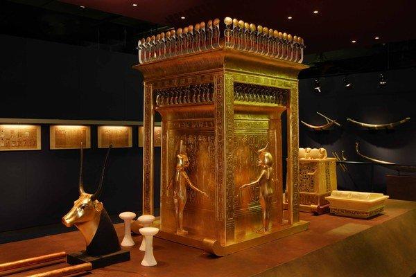 Pohľad na časť expozície Tutanchamón – jeho hrobka a poklady, ktorú otvoria 15. augusta v bratislavskej INCHEBE.