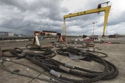 Priestory lodeníc Harland and Wolff v severoírskom Belfaste.