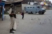 Vojenská hliadka v Kašmíre.