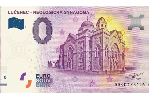 Podoba lučeneckej zberateľskej bankovky.