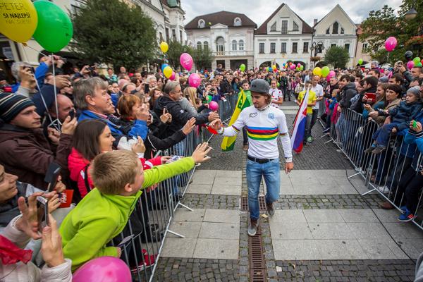 Peter Sagan začínal s cyklistikou v Žiline.