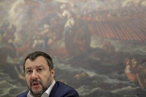 Šéf krajne pravicovej strany Liga Matteo Salvini.