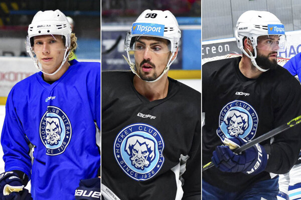 Zľava Andrej Kollár, Karol Korím a Denis Pätoprstý.
