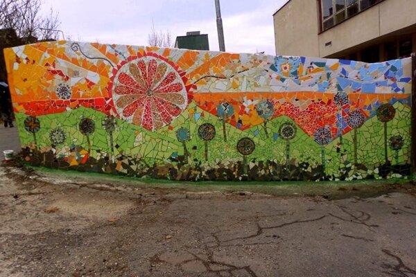 Mozaika v Rudlovej - Sásovej.