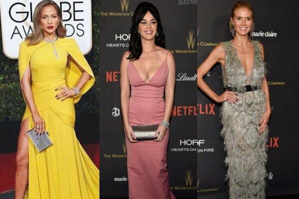 Zľava: Jennifer Lopezová, Katy Perryová, Heidi Klumová