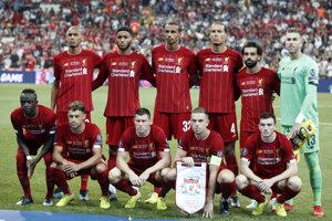 Hráči FC Liverpool pred zápasom Superpohára UEFA proti Chelsea Londýn.