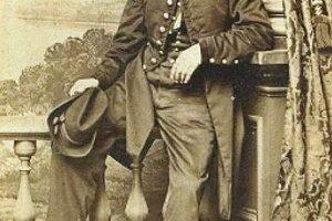 Major Gallik vo vojenskej uniforme vojakov Únie.