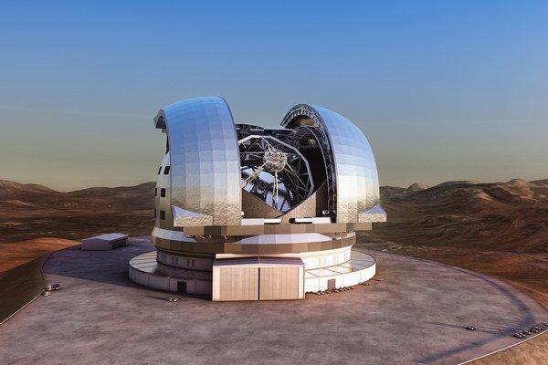 Vizualizácia teleskopu E-ELT.