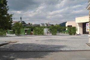Zelená stena na námestí - vizualizácia.