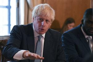 Britský premiér a líder Konzervatívnej strany Boris Johnson.