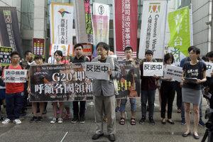 Protesty v Hongkongu podporili aj aktivisti na Taiwane.
