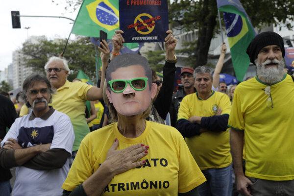 Demonštrácia v Brazílii - ilustračná fotografia.
