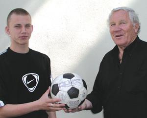 Adolf Scherer s vnukom Tomášom.