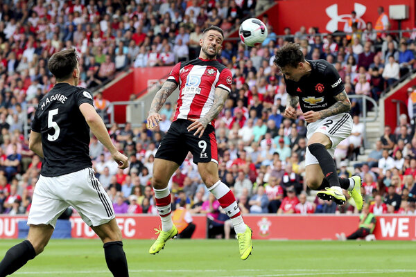 Fotografia zo zápasu medzi Manchesterom a Southamptonom.