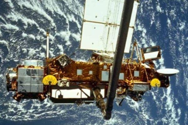 Satelit UARS, ktorý skúmal atmosféru.