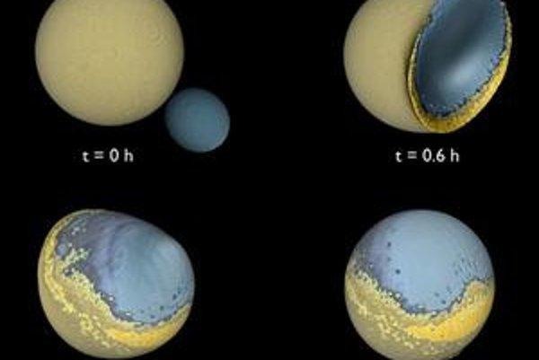 Menší mesiac po miliónoch rokov narazil do väčšieho. Preto má dnes naša planéta iba jedného sprievodcu.