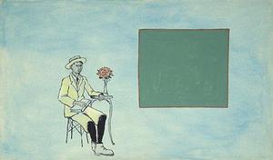 martin knut: hnedá krajina, akryl na plátne, 1990