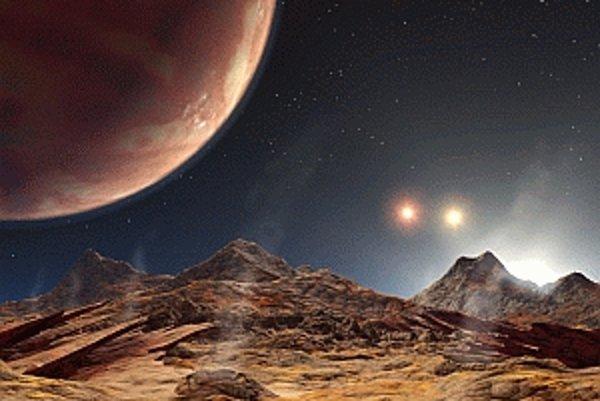 Povrch exoplanéty podľa predstáv umelca.