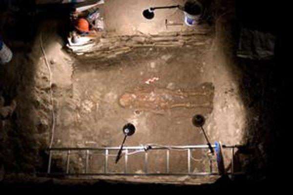 Vnútro záhadnej hrobky v Chiapa de Corzo.