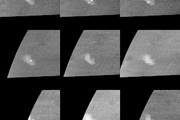Záznam bleskov na Saturne.